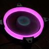 Aigo 12cm LED Ring Fan สีชมพู