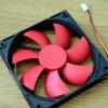 พัลม STW ขนาด12CM ใบแดง - กรอบดำ