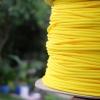 สายถัก 4 mm กลม สีเหลือง