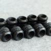 Fitting ท่ออคริลิค14mm สีดำ ชุด10ชิ้น แหวน4ชั้น