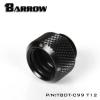 Barrow Fitting C99 T12 สีดำ ท่ออคริลิค12mm