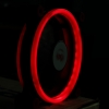 พัดลมวงแหวน Double Ring สีแดง