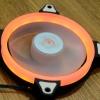 Aigo 12cm LED Ring Fan สีส้ม