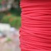 สายถัก 4 mm กลม สีแดงสด