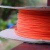 สายถัก 4 mm กลม สีส้ม