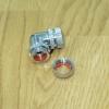 Fitting งอ 90 ท่ออคริลิค ซิล2ชั้น ยาว1.3cm