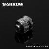 Barrow Fitting K12 V4 สีเงิน ท่ออคริลิค12mm