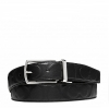 พร้อมส่ง เข็มขัดผู้ชาย MODERN HARNESS CUT-TO-SIZE REVERSIBLE SIGNATURE LEATHER BELT F64827 BLACK
