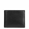 กระเป๋าสตางค์ผู้ชาย COACH COMPACT ID WALLET IN SPORT CALF LEATHER F74991 : BLACK