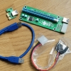 Adaptor PCI X1 to PCI X16 USB3.0 : 4pin molex