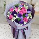 ช่อดอกไม้โทนชมพูม่วง ดีไซน์พิเศษ