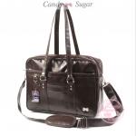 [Pre-order] กระเป๋านักเรียนญี่ปุ่นหนังสีดำ+สายสะพาย Candy Sugar