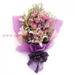 ช่อดอกไม้สีม่วงทรงยาว เหมาะสำหรับแสดงความยินดี