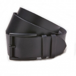 เข็มขัด American Eagle Wide Leather Belt - Black