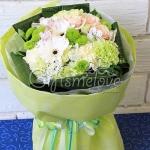 ช่อดอกไม้สัขาวเขียว แสดงความยินดี