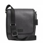 กระเป๋าผู้ชาย COACH HERITAGE CHECK MAP BAG SILVER/CHARCOAL F71430
