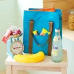 Lunch Bag กระเป๋าปิคนิคเก็บความเย็น ใส่อาหาร ขวดนม ฯลฯ สีเทา
