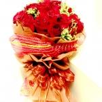 ช่อดอกกุหลาบแดง ขอความรัก