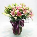 แจกันดอกลิลลีสีชมพู ที่สุดของหัวใจที่ฉันตามหา