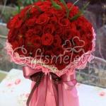 ช่อบูเก้กุหลาบแดง 99ดอก ช่อใหญ่เวอร์!!