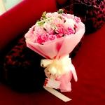 ช่อสีชมพูหวาน กับความรักอันสดใส