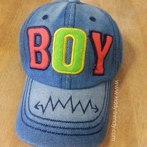 Cap 02 หมวกเด็ก ผ้ายีนส์ Boy สีเข้ม