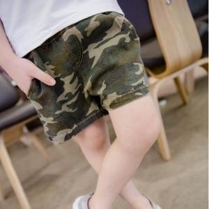กางเกงขาสั้น ลายพลางทหาร สีเขียว ไซส์ 5