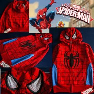 เสื้อกันหนาว Spiderman มีฮูด มีไซส์ 2ปี / 3ปี /4 ปี / M 8-10ปี