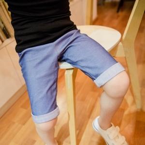 กางเกงยีนส์ ขาสามส่วน ปลายขาพับเบิ้ล ผ้ายีนส์ยืด สีอ่อน มีไซส์ 7 / 9 / 11