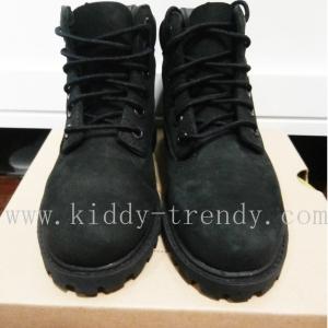 Timberland waterproof boots รองเท้าบูทหุ้มข้อ หนังผิวกำมะหยี่สีดำ ไว้ใส่ลุยน้ำลุยหิมะได้ค่ะ size 10 / 17cm. ของแท้ ออเดอร์เกินรง บนช๊อปคู่หลายพันค่ะ