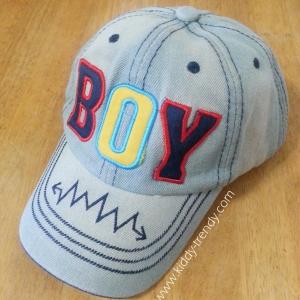 Cap 01 หมวกเด็ก ผ้ายีนส์ Boy สีอ่อน