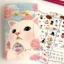 Choo Choo Cat Sticker Pack Diary Deco สติ๊กเกอร์ตกแต่ง 8 แผ่น thumbnail 1