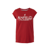 เสื้อทีเชิ้ตลิเวอร์พูล ไลล่ากลิทเตอร์ปริ๊นท์ สำหรับผู้หญิง สีแดง ของแท้ 100% Liverpool FC Ladies Laila Glitter Print Tee