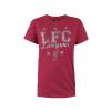 เสื้อทีเชิ้ตลิเวอร์พูล ลิเวอร์พูล กลิตเตอร์ สำหรับผู้หญิง สีแดง ของแท้ 100% Liverpool FC Ladies Liverpool Glitter Tee