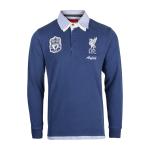 เสื้อโปโลลิเวอร์พูล ของแท้ 100% Liverpool FC Mens Double Collar Long Sleeve Polo Shirt