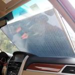 ม่านกันแดดดูดกระจกสีเงินเลเซอร์ ขนาด 50X125cm