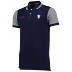 เสื้อโปโลแมนเชสเตอร์ ยูไนเต็ด Manchester United Premium Devil Contrast Sleeve Polo Shirt Navy ของแท้