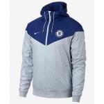 เสื้อแจ็คเก็ตเชลซี Authentic Windrunner สีแพลตินั่มของแท้