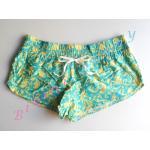 Sale sh402 กางเกงผ้า cotton ลายเก๋ สีเขียวเหลือง Size L --> The sea