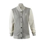 เสื้อแจ็คเก็ตลิเวอร์พูล วาร์ซิตี้แจ็คเก็ตสีเทา สำหรับผู้หญิง ของแท้ 100% Liverpool FC Ladies Varsity Jacket