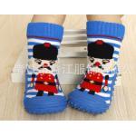 ถุงเท้ารองเท้าพื้นยางหัดเดิน 2 in 1 ลายทหาร Size 19 - 23