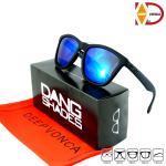 แว่นกันแดด Dang Shades - Black X Blue Polarized (กรอบดำด้าน เลนส์ปรอทน้ำเงินโพลาไลซ์ )