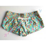 Sale sh391 กางเกงผ้า cotton ลายสีเขียวเหลือง Size L --> the sea