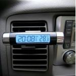 นาฬิกาและเครื่องวัดอุณหภูมิดิจิตอล (แสงสีฟ้า)