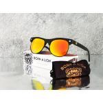 แว่นกันแดด Glassy Sunhaters Shredder รุ่น : BORN A LION : MATTE BLACK/RED MIRROR