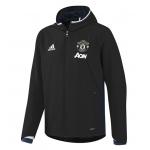 เสื้ออดิดาสแมนเชสเตอร์ ยูไนเต็ดของแท้ เสื้อแจ็คเก็ตเทรนนิ่งพรีเซนท์เทชั่นสีดำของแท้