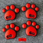 กันกระแทก สติ๊กเกอร์ รอยเท้าหมี น่ารักๆ (สีแดง)