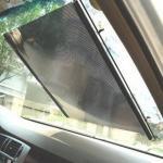 ม่านกันแดดดูดกระจกสีดำตาข่าย ขนาด 50X125cm