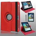 เคส Samsung Galaxy Tab2 10.1 Rotary หมุนได้ 360 สีแดง