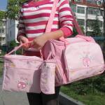 กระเป๋าคุณแม่ ใส่ของเด็กอ่อน Set สุดคุ้ม สีชมพู รูปแมลงเต่าทอง